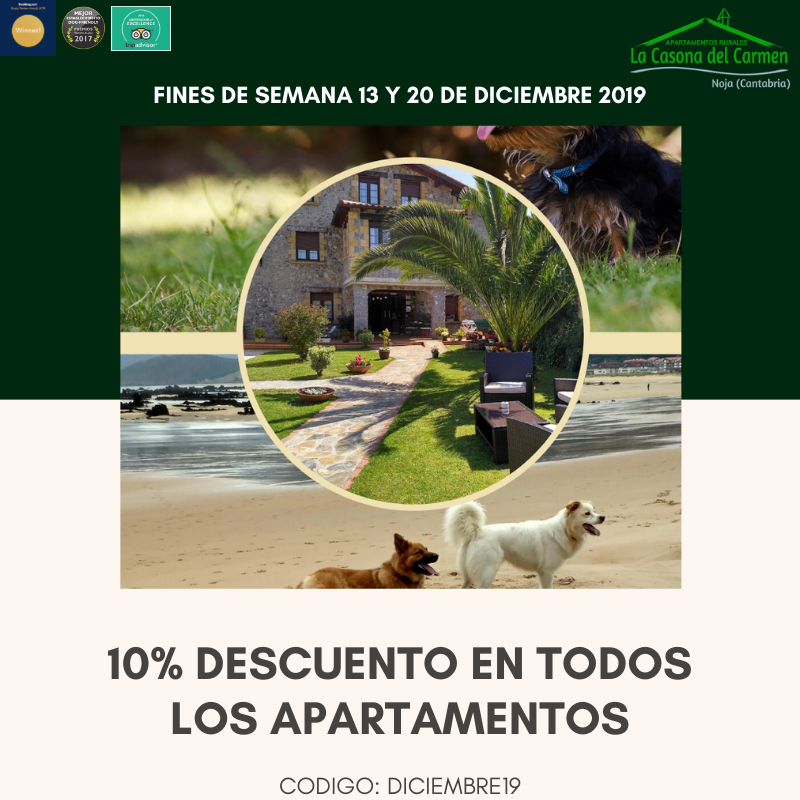 Oferta Diciembre 2019 Apartamentos Rurales Cantabria