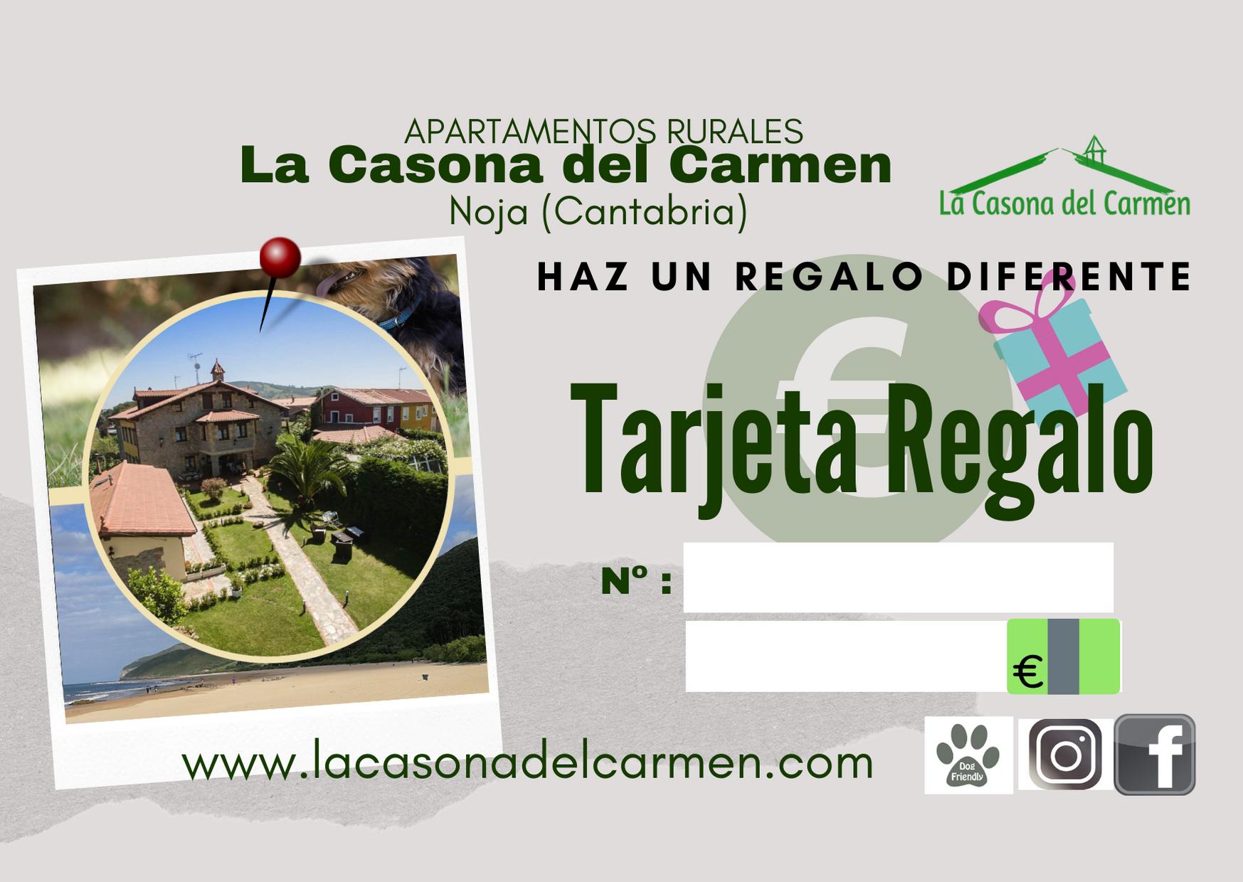 Tarjeta Regalo Apartamentos Rurales Cantabria